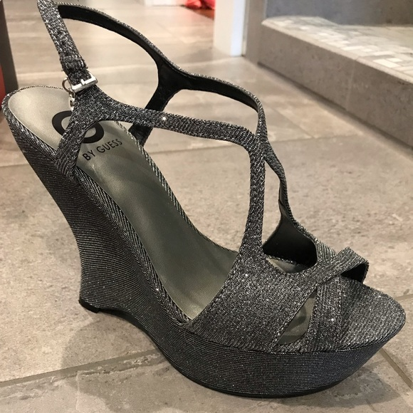 Guess Shoes - Guess silver Wedges Heals